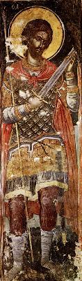 Св. великомъченик Никита. Фреска от църквата