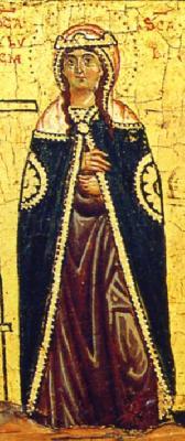 Света мъченица Лукия. Фрагмент от икона. XIV в.