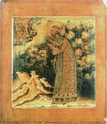Свт. Филип Московски. Икона от Русия. 2-ра третина на XVII в.