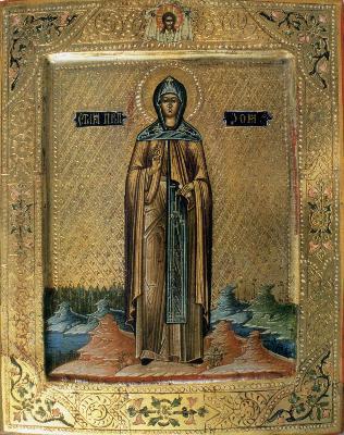 Св. Зоя Витлеемска. Руска икона от 1913 г.