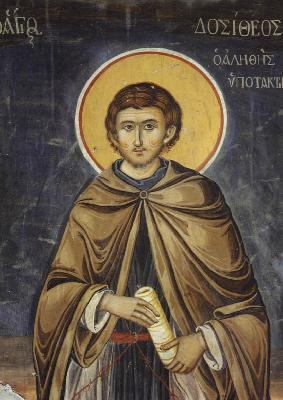 Св. преподобни Доситей. Фреска от манастира Ватопед на Атон. 1802 г.