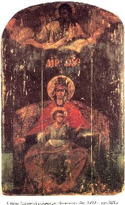 Икона на Божията Майка ''Държавна''. Края на XVIII в.
