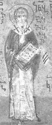 Св. преподобни Иаков, епископ Катански. Миниатюра от Атон, Иверски манастир. Края на XV в.