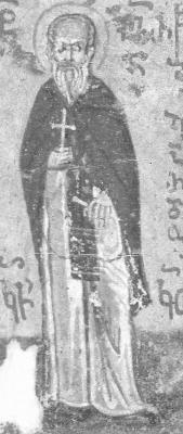 Св. преподобни Иларион Нови Пеликитски. Атон, Иверски манастир. Края на XV в.