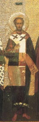 Свети апостол Иродион. Фрагмент от икона с избрани светии. Москва. Средата на XVI в.