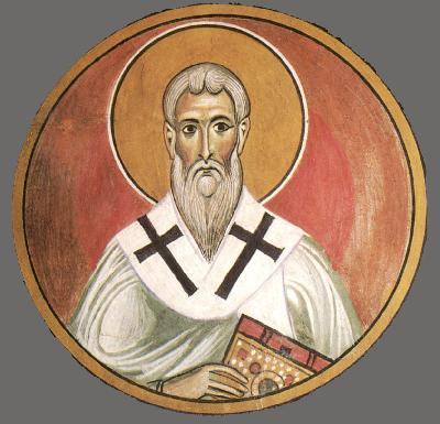 Св. свещеномъченик Зинон. Фреска от църквата ''Панагии Аракос'', Кипр. 1192 год.