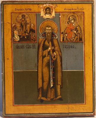Св. преподобни Виталий Александрийски, монах. Икона от периода 1830-1860 г.