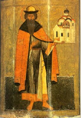 Св. благоверен княз Всеволод Псковски. Икона от Русия. XVI в.