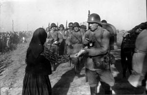 Посрещане на първите български части в Южна Добруджа, 21 септември 1940 г.