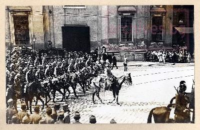 Траурната процесия за генерал Колев
